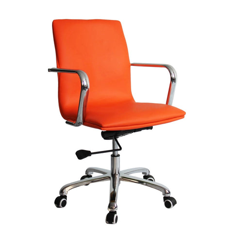 Fine Mod Imports FMI10170-orange Confreto Conference Office Chair Mid Back, Orange - Peazz.com - 1