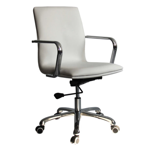 Fine Mod Imports FMI10170-white Confreto Conference Office Chair Mid Back, White - Peazz.com - 1