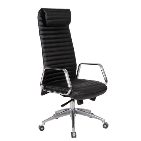 Fine Mod Imports FMI10178-black Ox Office Chair High Back, Black - Peazz.com - 1