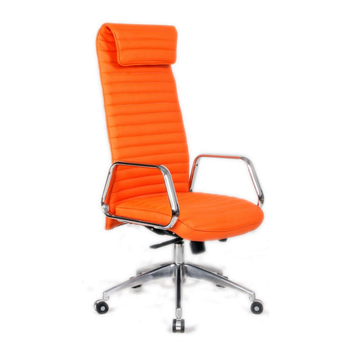 Fine Mod Imports FMI10178-orange Ox Office Chair High Back, Orange - Peazz.com - 1