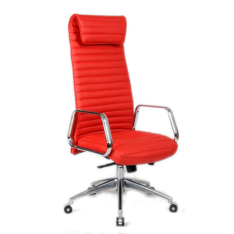 Fine Mod Imports FMI10178-red Ox Office Chair High Back, Red - Peazz.com - 1