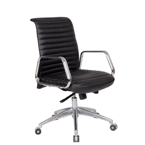 Fine Mod Imports FMI10179-black Ox Office Chair Mid Back, Black - Peazz.com - 1