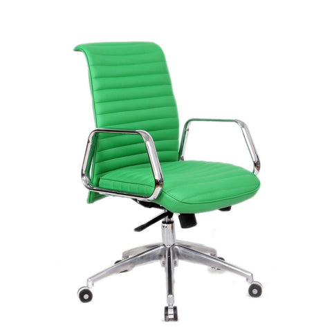 Fine Mod Imports FMI10179-green Ox Office Chair Mid Back, Green - Peazz.com - 1