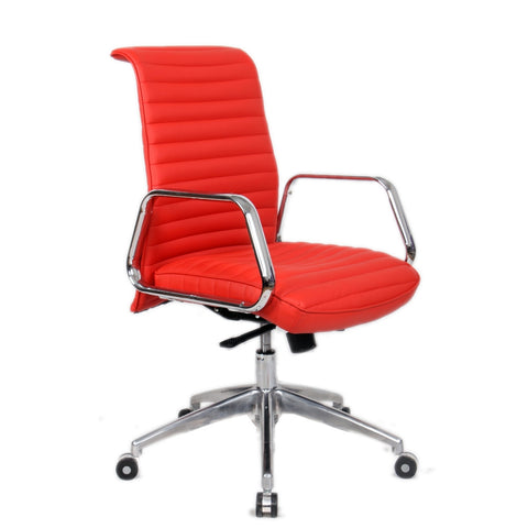 Fine Mod Imports FMI10179-red Ox Office Chair Mid Back, Red - Peazz.com - 1