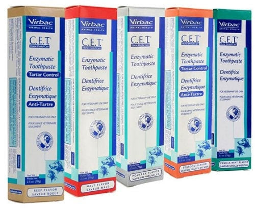 Virbac 10314 CET Toothpaste for Dogs Cats, Flavor: Seafood