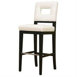 Wholesale Interiors Y-780-155 Faustino White Leather Barstool - Each
