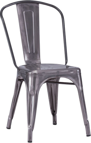Zuo Modern 108140 Elio Dining Chair Color Gunmetal Steel Finish - Set of 2 - Peazz.com - 1
