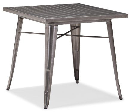 Zuo Modern 109125 Olympia Dining Table Color Gunmetal Steel Finish - Peazz.com