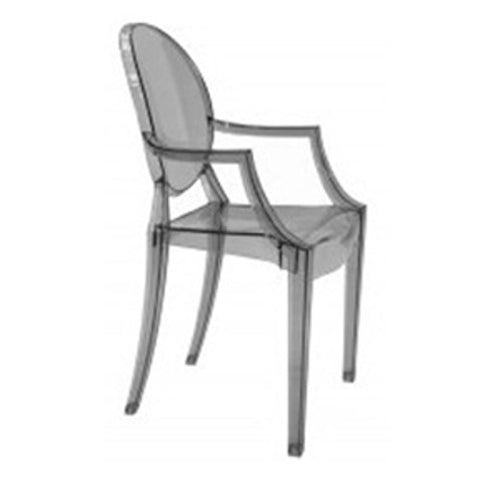 Fine Mod Imports FMI1130-smoke Clear Arm Chair, Smoke - Peazz.com