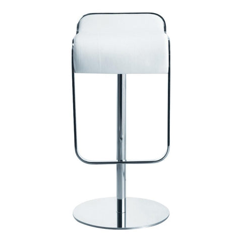Fine Mod Imports FMI1135-white Lem Bar Stool Chair, White - Peazz Furniture - 1