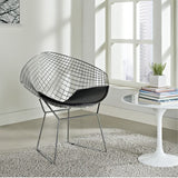 Fine Mod Imports FMI1157-black Wire Diamond Chair, Black - Peazz.com - 4