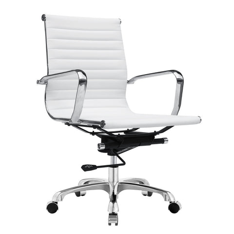 Fine Mod Imports FMI1160-white Modern Conference Office Chair Mid Back, White - Peazz.com - 1