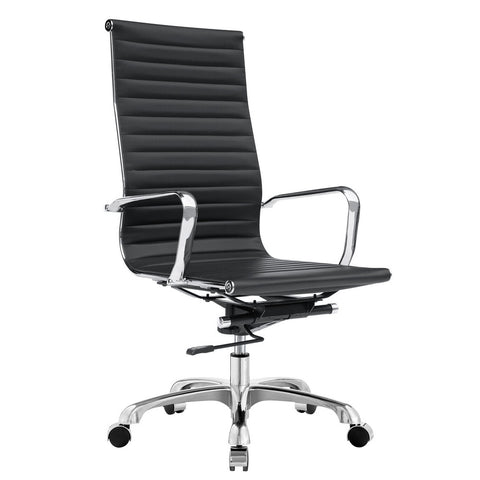 Fine Mod Imports FMI1161-black Modern Conference Office Chair High Back, Black - Peazz.com - 1