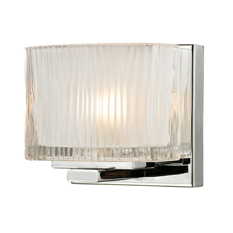 ELK Lighting 11620/1 Chiseled Glass Collection Polished Chrome Finish - PeazzLighting