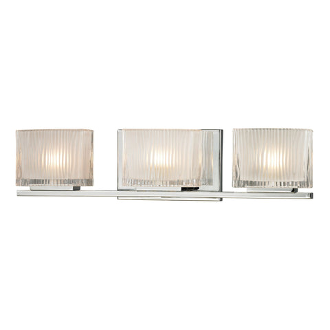 ELK Lighting 11622/3 Chiseled Glass Collection Polished Chrome Finish - PeazzLighting