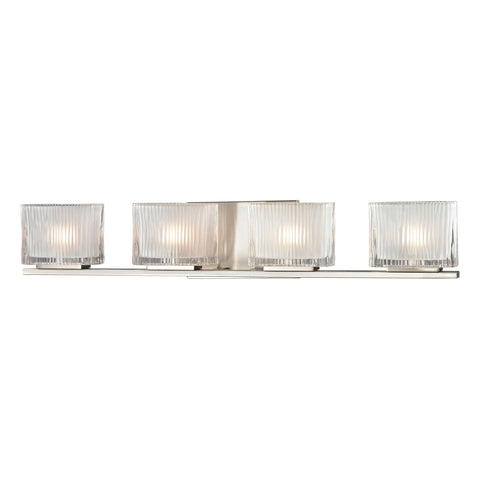 ELK Lighting 11633/4 Chiseled Glass Collection Brushed Nickel Finish - PeazzLighting