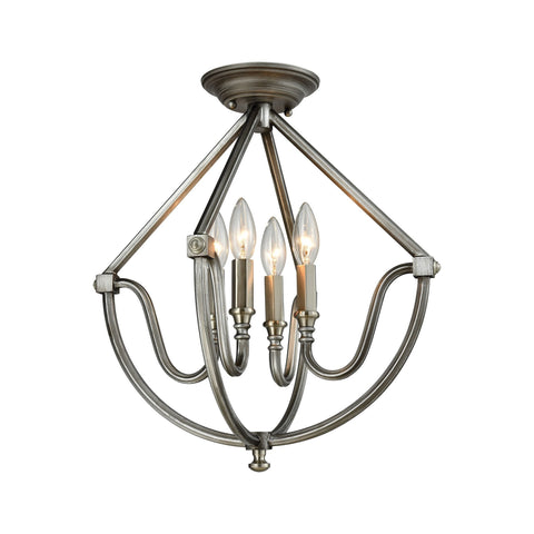 ELK Lighting 11841/4 Stanton Collection Weathered Zinc,Brushed Nickel Finish - PeazzLighting