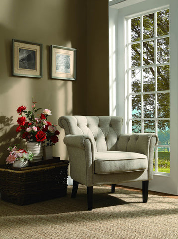 Homelegance 1193F1S Barlowe Collection Color Oatmeal Linen - Peazz.com