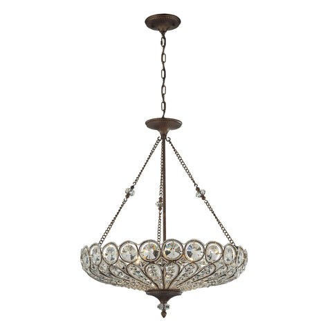 ELK Lighting 12025/6 Christina Collection Mocha Finish - PeazzLighting