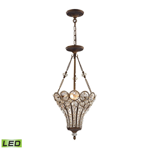 ELK Lighting 12032/3-LED Christina Collection Mocha Finish - PeazzLighting