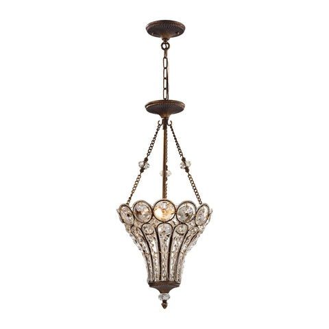 ELK Lighting 12032/3 Christina Collection Mocha Finish - PeazzLighting