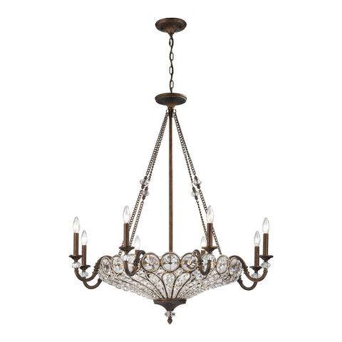 ELK Lighting 12034/8+4 Christina Collection Mocha Finish - PeazzLighting