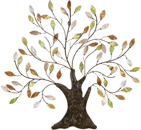 Benzara 13074 Metal Tree/Shell Leaves Anytime Walldecor Upgrade Option