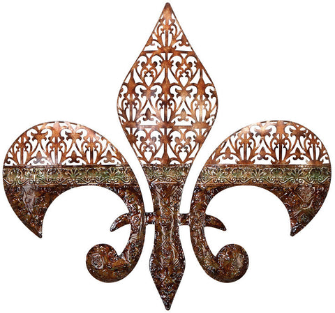 Benzara 13386 Metal Walldecor Excellent Fleur Di Lis On Metal Walldecor