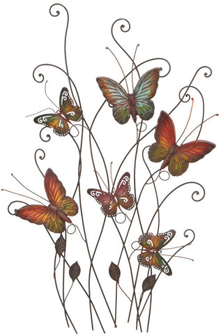 Benzara 13611 Gorgeous And Radiant Multicolored Butterflies Walldecor