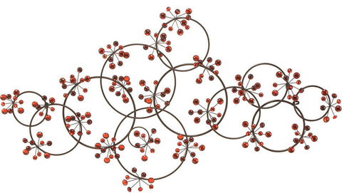 Benzara 13726 Metal Walldecor Sculptured With Intrigued Circles