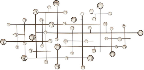 Benzara 13749 Metal/Glass Bead Walldecor Designed Exclusively