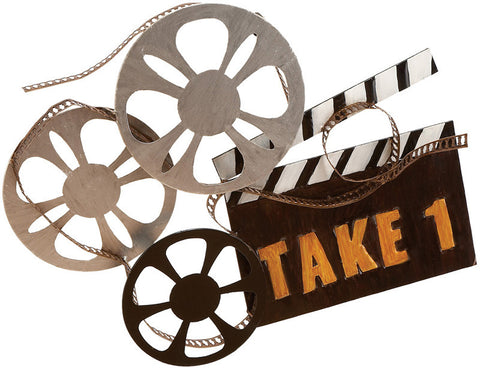 Benzara 13864 Metal Movie Walldecor Takes You To Film Shooting Site