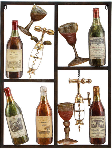 Benzara 13866 Metal Winedecor Shows Style Of Life