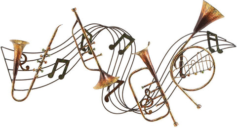 Benzara 13876 Metal Musical Instdecor A Musical Walldecor