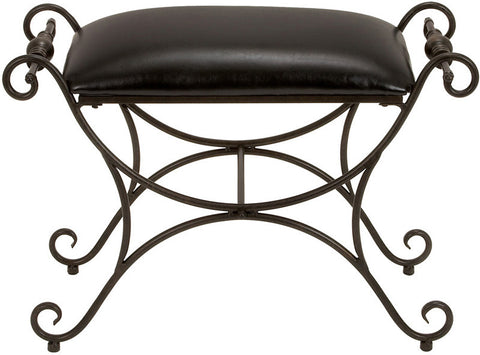 Benzara 13877 Metal Foot Stool Designed For Limited Editions