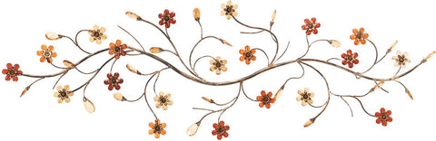 Benzara 13882 Metal Walldecor With Flowers Loaded Twig