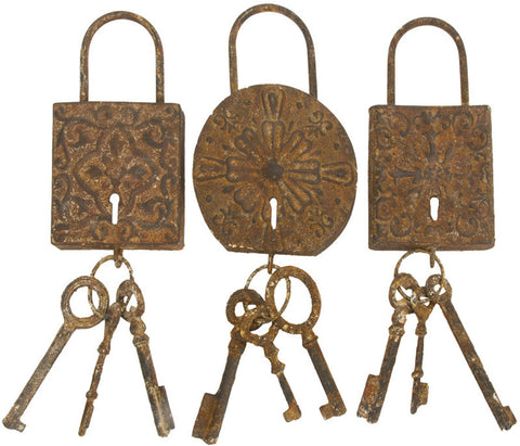 Benzara 13906 Metal Key Setdecor 3 Asst To Keep The Keys Safe