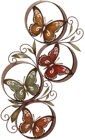 Benzara 13945 Metal Butterflydecor Fills The Color Of Nature In Rooms