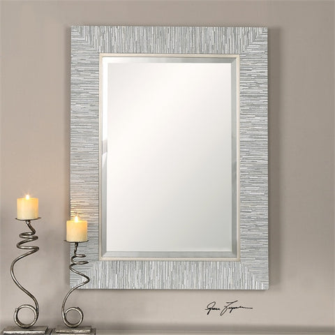 Uttermost Belaya Gray Wood Mirror (14551) - UTMDirect
