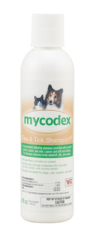 VPL 15046 Mycodex Flea & Tick Shampoo P3 (Triple Strength Pyrethrin), 6 oz - Peazz.com