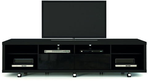 Manhattan Comfort 15313 Cabrini Collection Black Gloss and Black Matte Finish - Peazz.com - 1