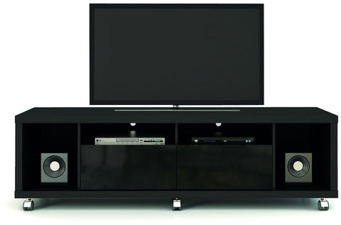 Manhattan Comfort 15413 Cabrini Collection Black Gloss and Black Matte Finish - Peazz.com - 1
