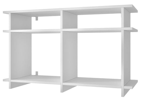 Accentuations by Manhattan Comfort Suitable Wellington TV Stand with 4 Open Shelves in Tobacco - Peazz.com - 1