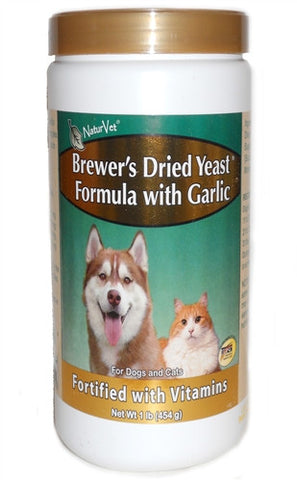 Natur Vet 16009 Brewer's Dried Yeast Formula With Garlic, 100 Tablets - Peazz.com