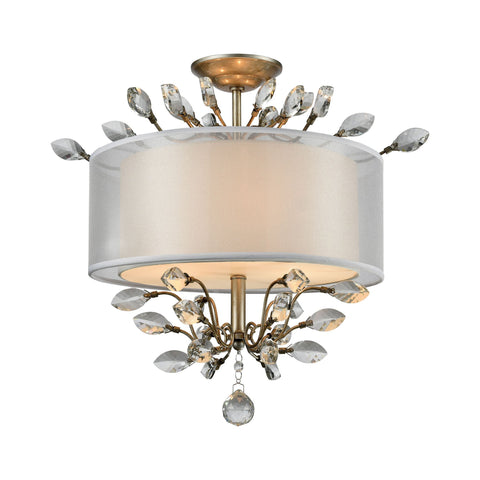 ELK Lighting 16281/3 Asbury Collection Aged Silver Finish - PeazzLighting