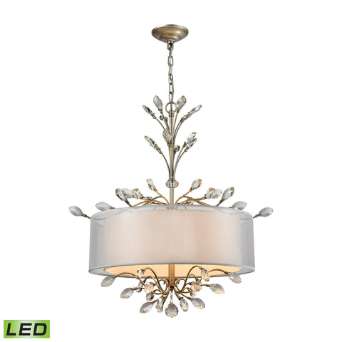 ELK Lighting 16282/4-LED Asbury Collection Aged Silver Finish - PeazzLighting
