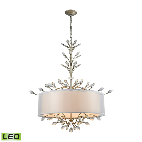 ELK Lighting 16283/6-LED Asbury Collection Aged Silver Finish - PeazzLighting