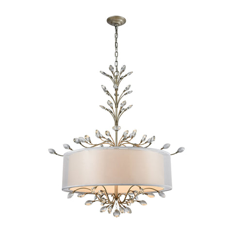 ELK Lighting 16283/6 Asbury Collection Aged Silver Finish - PeazzLighting