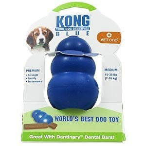 Kong 16453 Kong Blue Dog Toy, Medium 1535 lbs - Peazz.com