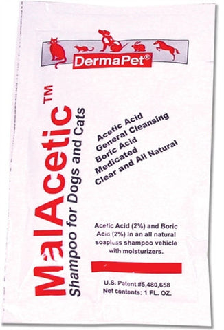 DermaPet 17091 DermaPet MalAcetic Shampoo For Dogs & Cats, 1 oz. Travel Pouch - Peazz.com